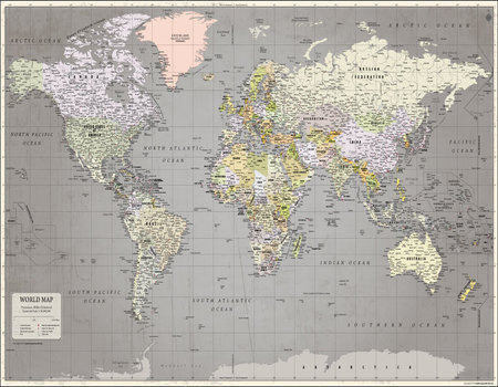 World map poster by mapsofworld world map retro poster gumiabroncs Choice Image