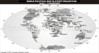 World Map in Aitoff Projection in Grayscale