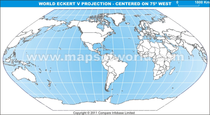 America centric world map in eckert v projection gumiabroncs Image collections
