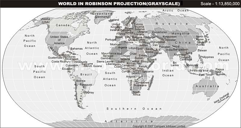 Grayscale Map With Text