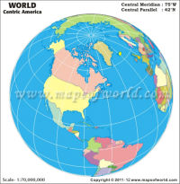 America Centric World Map
