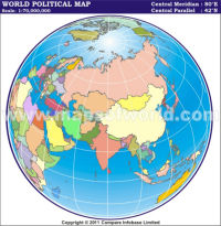 India Centric World Map