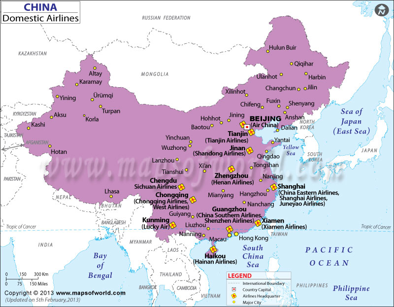 China Domestic Flights, China Domestic Airlines