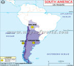 South America Ski Resort Map