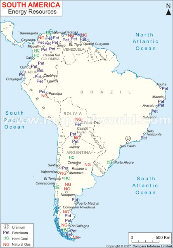 What Are Some Natural Resources In South America