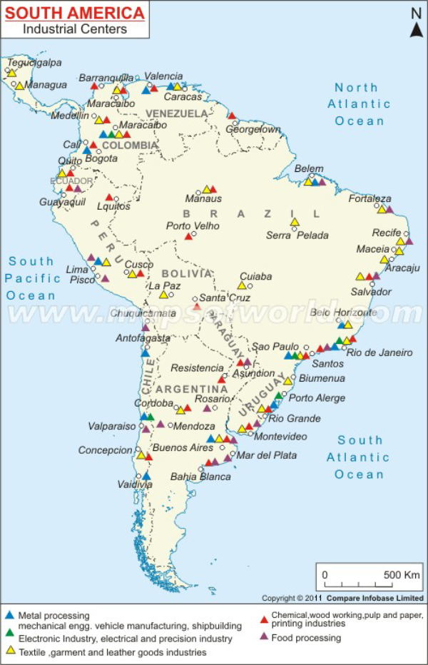 South America Industrial Centers