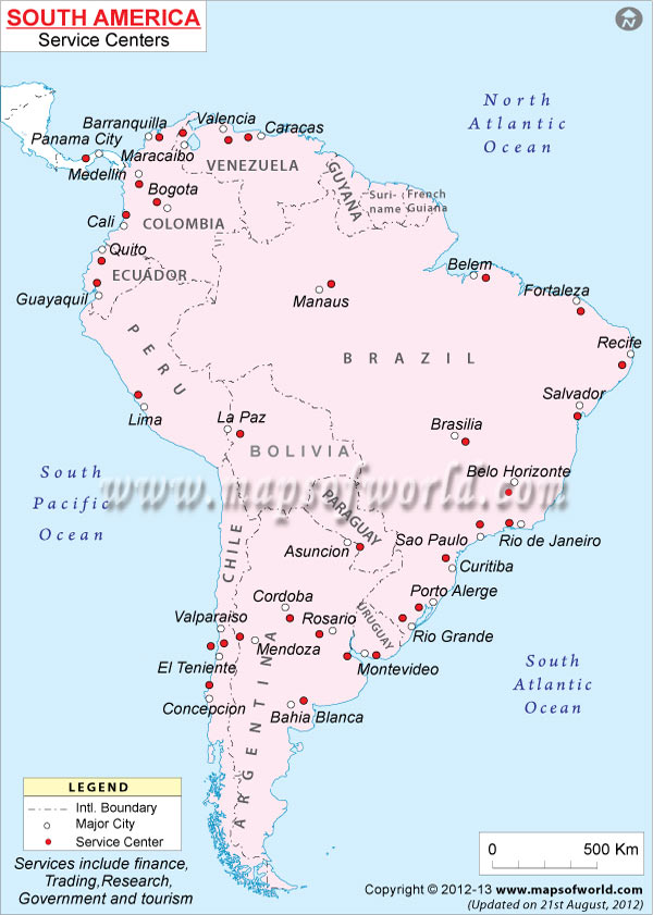 South America Service Centers