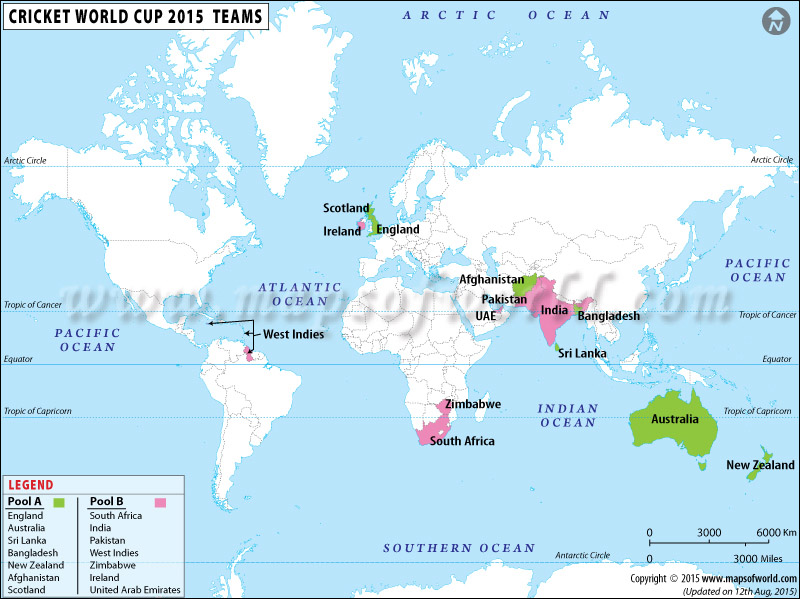 2015 Cricket World Cup Teams