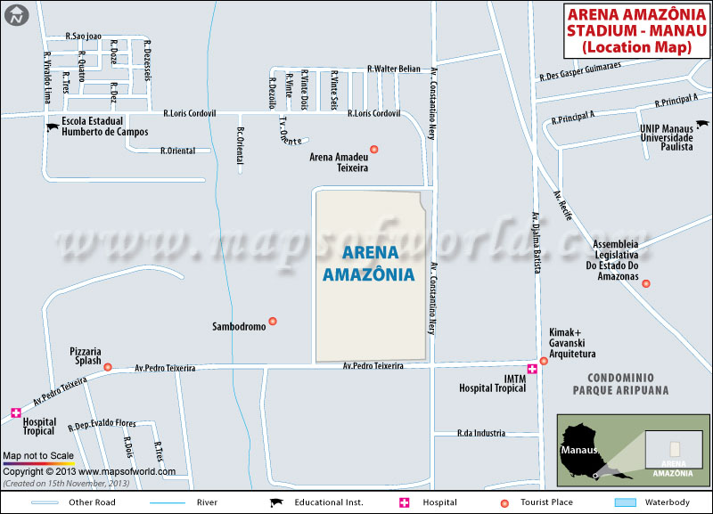 Where is Arena Amazonia Location Map