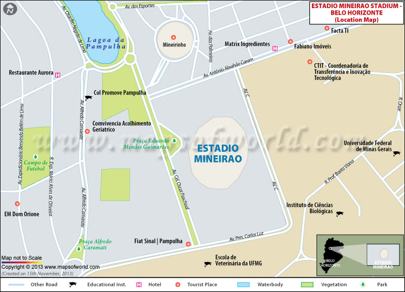 Estadio Mineirao Location Map