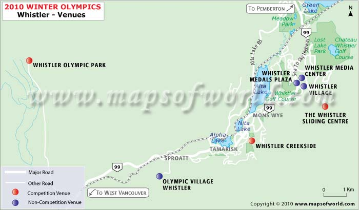 Whistler Olympics Venues Map