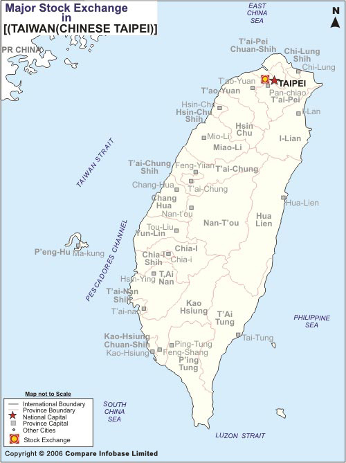 Taiwan Stock Exchange Location Map