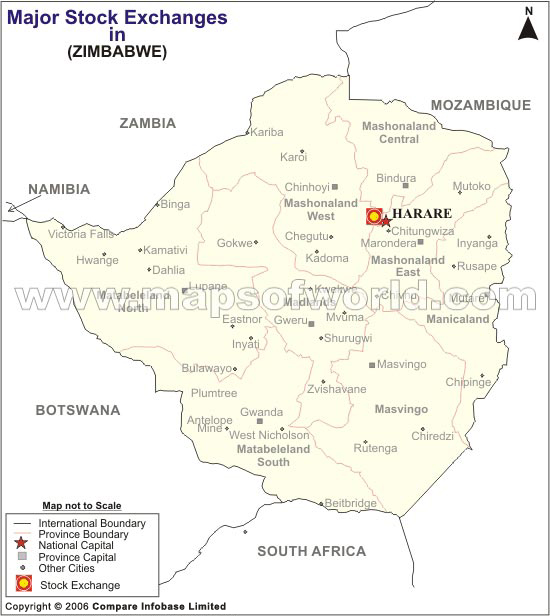 Location Map of the Stock Exchange of Zimbabwe