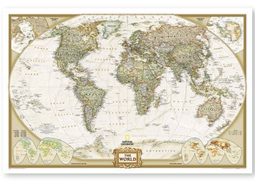Executive Map - World Map with cities