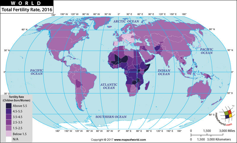 Fertility rate by countries of the world gumiabroncs Image collections