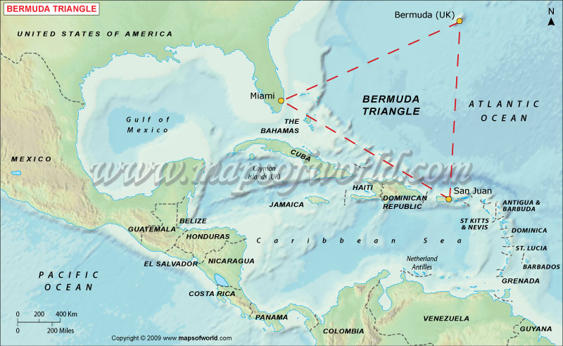 Bermuda triangle map map of bermuda triangle bermuda triangle map gumiabroncs Images