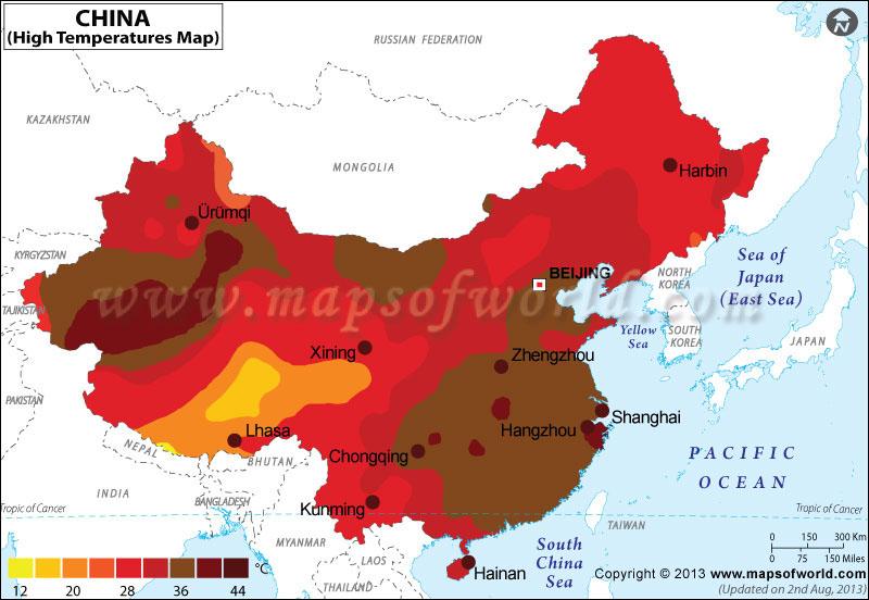 China Temperature Map