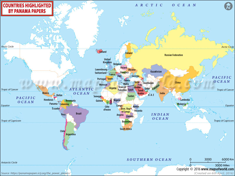 Panama papers leak affected countries map asia and south pacific map gumiabroncs Images