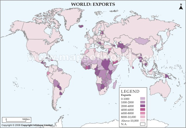 World Exports Map