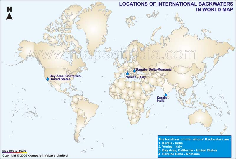International Backwater in World Map