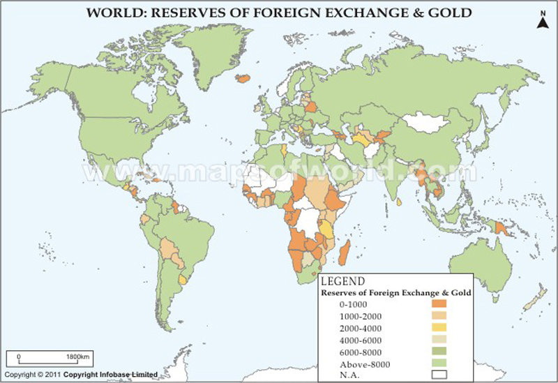 World Reserves of Foreign Exchange and Gold