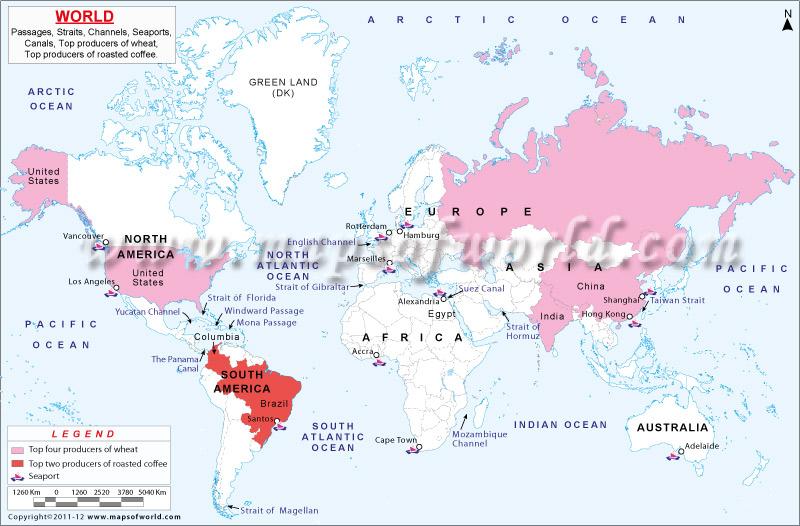 World Passages Straites Map