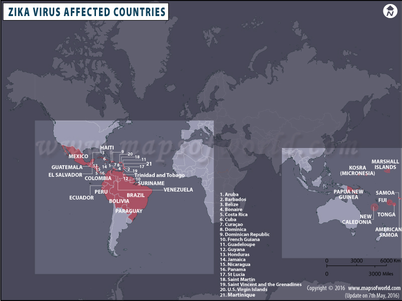 Map of Zika Virus Affected Countries and Areas, Zika Virus Symptoms Zika Virus Map United States City on west nile virus map, japanese encephalitis map, powassan virus map, yellow fever map,