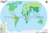 World Urban Population Map