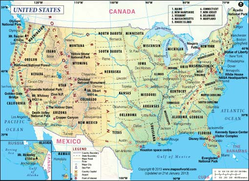 Maps Of The World Maps Of Continents Countries States Cities - Pictures of usa map