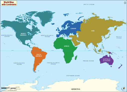 World Countinent Map