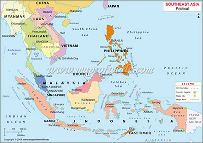 Malaysia Philippines Singapore Map