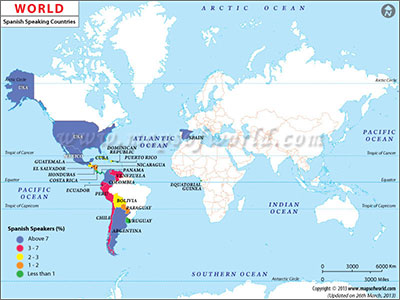 Spanish Speaking Countries in World