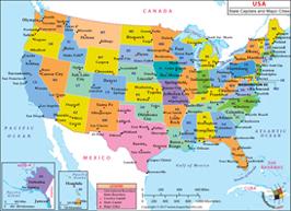US Major Cities Map