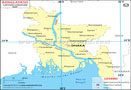 Bangladesh Lat Long Map