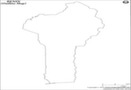 Benin Outline Map