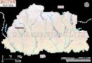 Bhutan River Map