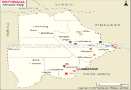 Botswana Mineral Map