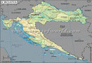 Croatia Lat Long Map