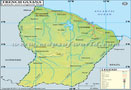 French Guiana Lat Long Map