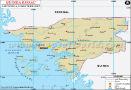 Guinea-Bissau Lat long Map