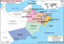 La carte d'Oman