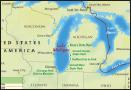 Map of Lake Michigan