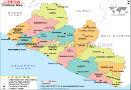 Liberia Map Map of Liberia