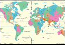 Different time zones in the world