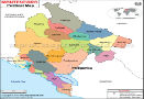 Political Map of Montenegro