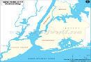 New York City Blank Map