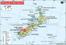 New Zealand Earthquake Map