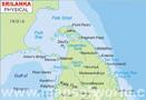 Physical Map of Sri Lanka
