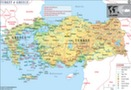 Map of Turkey and Greece