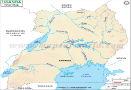 Uganda River Map